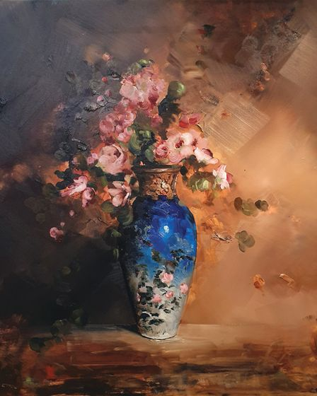 One of the vase studies by former drummer Chris Rivers