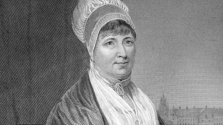 Quaker and Christian philanthropist Elizabeth Fry on an engraving from 1873. Engraved by unknown art