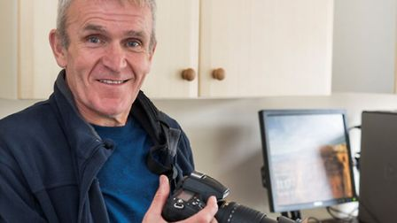 David Cullingford with his camera at St Martins in Norwich. Photo courtesy St Martin's Housing Trust