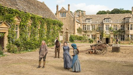 Carey Mulligan as Bathsheba Everdene in the 2015 Far From the Madding Crowd. Mapperton House was use