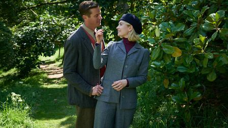 Armie Hammer as Maxim de Winter and Lily James as the new Mrs de Winter in the soon to be released N