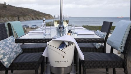 The Cove, Maenporth, Falmouth. Food Head Chef Archie GM Lucy interiors beach Michael Caines
