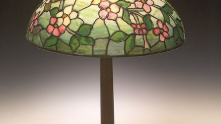 A Tiffany lampshade, c.1900, from the Anderson Collection of Art Nouveau at the UEA. Photo courtesy