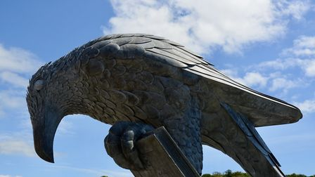 The Rook with the Book sculpture, Fowey