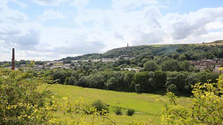 Landscape view over Ramsbottom