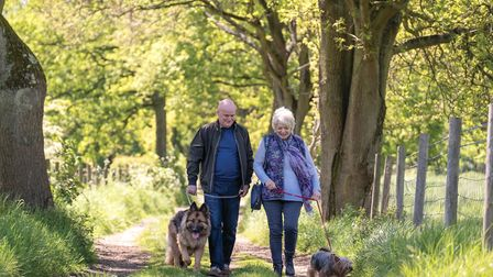 Alison Steadman and Dave Johns in a scene from the film 23 Walks which is released on September 25th