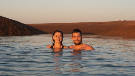Bella Bryson and Ben Davies have set themselves a challenge to swim 1km every weekend in 2020 to rai