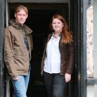 Kevin and Nicola Tickle in the doorway to their new venture together