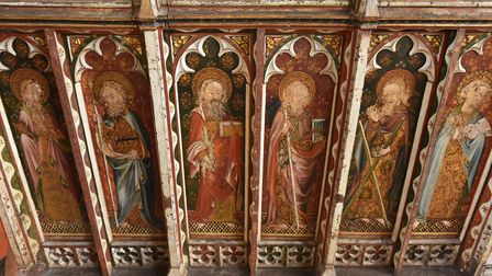 St Helen's Church, Ranworth, has a beautiful painted medieval screen. Picture: James Bass