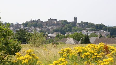 Views across Lancaster from the field