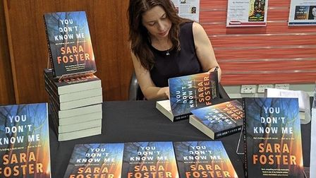 Sara Foster signing copies of her latest novel You Don't Know Me
