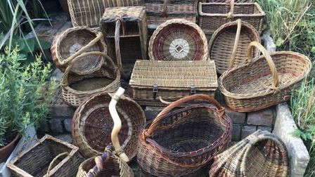 Willow baskets by Sue Andrews Picture: supplied by artist