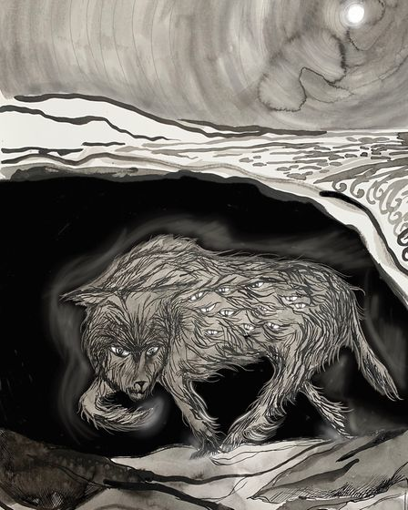 The black dog that lurks in a Portland cave Illustration Sarah Lovell
