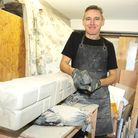 Tony in his workshop in Great Harwood