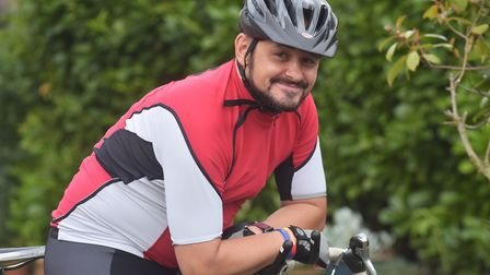 Matt Colley is cycling 5,000 miles around Norfolk to raise awareness and money for mental health cha