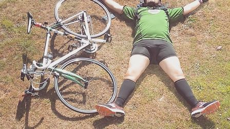 Matt Colley will cycle through every village in Norfolk to raise money for charity. Picture: Matt Co
