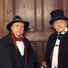 Chris Gallarus and Alistair Chisholm lead the Dorchester Ghost Walk