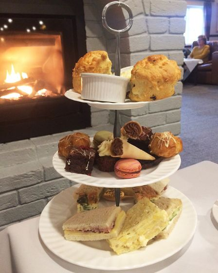 Three levels of afternoon delight at the Crown Lodge Hotel. Photo: Dominic Castle