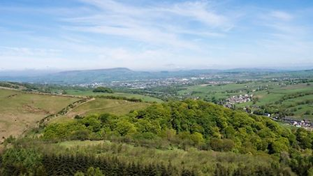 The view to Pendle from Thievely Pike by John Lenehan