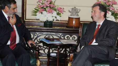 The Minister for Government Policy, Oliver Letwin MP meeting the Union Minister for Commerce & Indus