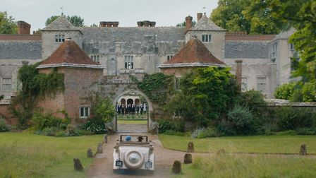Max and his new bride arrive at the gates of Manderley - played by Cranborne Manor in Dorset Photo: