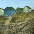 Beach Huts & Sand Dunes by Chris Wenlock (photo courtesy Hayletts Gallery)