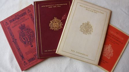 A collection of books of the form, order and the ceremony of the Queen's coronation in 1953 which Al