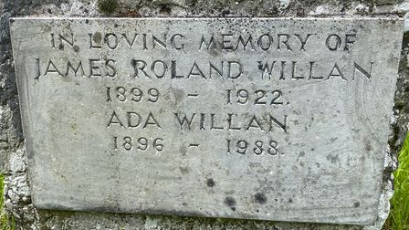 The headstone of James Roland Willan