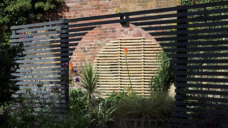 The moon gate was donated by their neighbouring show garden at last year's Southport Flower Show, th
