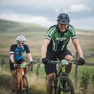 Ian Wetherill putting a Hope bike through its paces in the Lancashire countryside