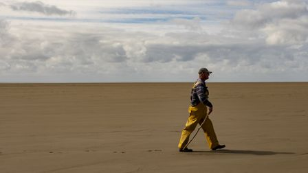 Queen's Guide to the Sands, Michael Wilson in Morecambe Bay