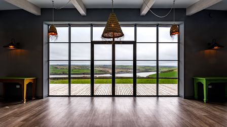 The house features generous ceiling heights maximising the views