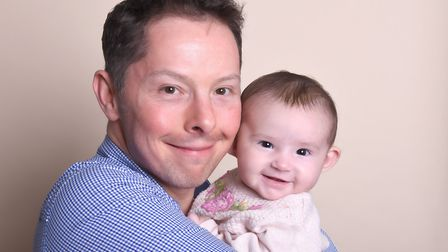 Dr Mike Paull of the Wigan Family Chiropractic Hospital and his daughter Avissa. Picture: Wigan Fami