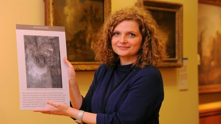 Norwich Castle Museum curator of historic art Dr Giorgia Bottinelli with John Crome's The Yare at Th