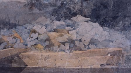 John Sell Cotman, Dock Leaves by a Stream c.1805-06, pencil and watercolour on paper. Image: Norfolk