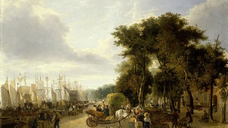 George Vincent, Yarmouth Quay,1823, oil on canvas. Image courtesy: Norfolk Museums Service/Norwich