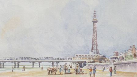 Martyn's painting of Blackpool Tower