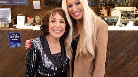 Hayley Palmer with Didi Conn, who played Frenchie in Grease (photo courtesy Hayley Palmer)