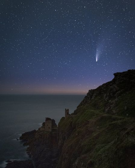 Comet Neowise over Botallack North by CHris Colyer
