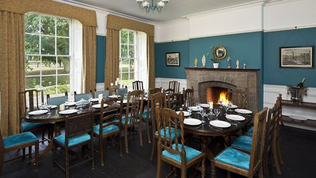 The lounge and dining room at Ringshall Grange were once one big room which served as a school room