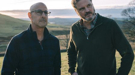 Colin Firth and Stanley Tucci play Sam and Tusker in Supernova