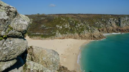 Porthcurno has become famous for its role in BBC Poldark