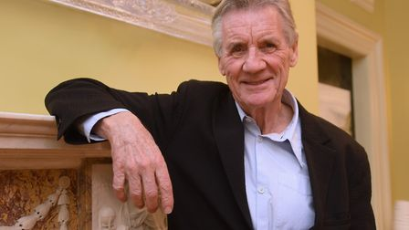 Michael Palin on a visit to Norwich in 2017. Photo: Denise Bradley