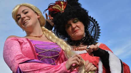 Rapunzel and the Wicked Sorceress in Rapunzel - The Lockdown Pantomime Picture Richard Batson