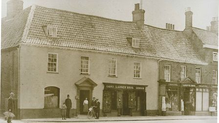 The Bakers & Larners store front in Holt in the early 1900s Picture: Bakers & Larners