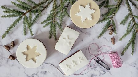 Iced Christmas cake from Ginger Bakers