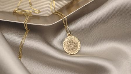 Jessica Alice Jewellery solid gold St Christopher Picture: Lucy Dack Photography