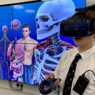 A VR classroom offers pupils new and exciting ways to learn. Picture: The Leys School