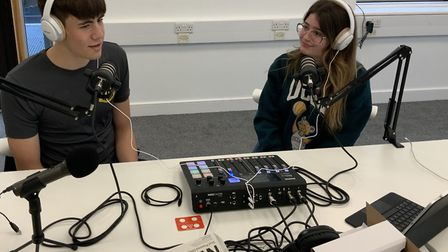 Pupils from The Leys School launched 'LIT Radio' during the pandemic to make up for missing out on v