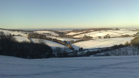 The Quantock Hills in Somerset covered in snow; a wonderful sight at this time of year. PHOTO: Getty